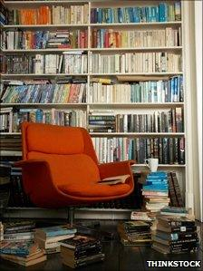 Room with lots of books