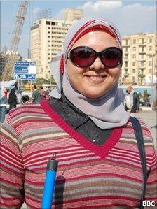 Science teacher Alia Bassiouni, Cairo (12 February 2011)