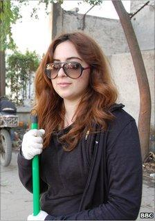 Mariam Hussein, architecture student, Cairo (12 February 2011)