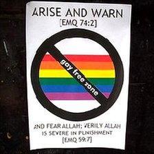 """""""gay-free zone"""" sticker"""