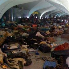 The scene at Tripoli airport