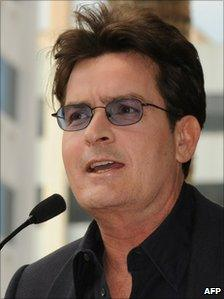 A photo of Charlie Sheen from 2009