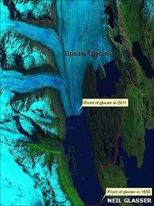 Upsala glacier in Patagonia