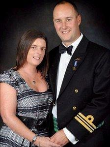 Lt Cdr Ian Molyneux with his wife Gillian