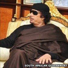 Col Gaddafi in Tripoli, 30 May (South African govt)