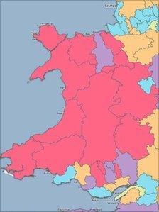 map o sefyllfa band eang Cymru
