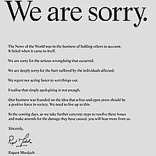 Rupert Murdoch's apology letter