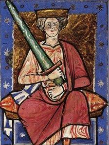 The Saxon king Ethelred the Unready