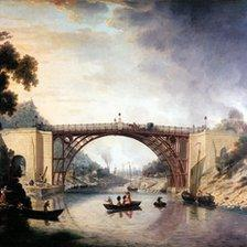 A painting of the Iron Bridge by William Williams. Courtesy of Ironbridge Gorge Museum Trust