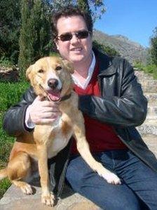 Chris Callahan and dog