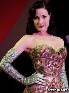 Dita Von Teese performs at the Erotica 2006 exhibition at Olympia, November 17th 2006