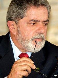 Luiz Inacio Lula da Silva in a file photo from 2005