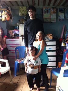 Professor Victor Longo with two Ecuadorians with Laron syndrome