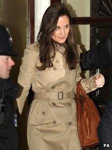 Pippa Middleton leaving the hospital after visiting her sister on 5 December 2012