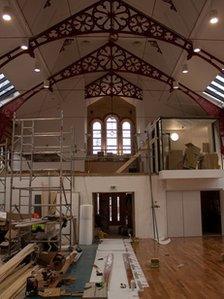 Inside the John Peel Centre, Stowmarket