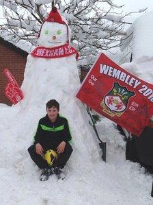Wrexham snowman