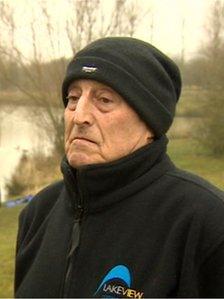 Eddie Whitehead, owner of Dog Lane Fishery, in Napton-on-the-Hill, Warwickshire
