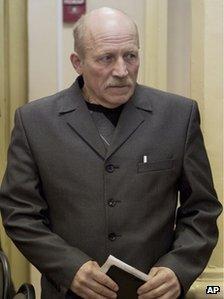 Vyacheslav Opalev in court in Kirov, Russia, 25 April