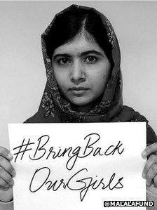 Malala Yousafzai tweets Bring Back Our Girls