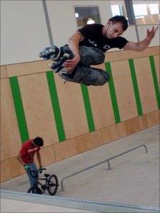 Skateboard park at Minehead Eye