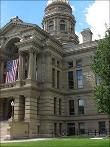 The Wyoming state capitol