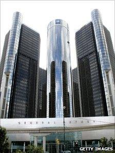 General Motors Company World Headquarters and Renaissance Center complex in Detroit, Michigan