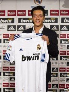 New Real Madrid player Mesut Ozil