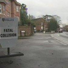 The scene of the collision in Reading