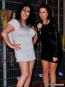 Nadia Almada and Davina McCall