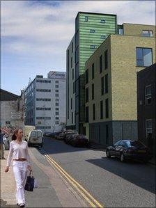 Planned development in Lewes Road Brighton