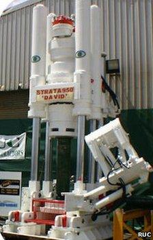 The Strata 950 raise bore machine that will drill the hole to reach the trapped miners