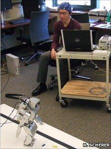 Brain-controlled robot (R. Scherer)