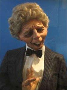 Spitting Image puppet of Margaret Thatcher at Grantham Museum