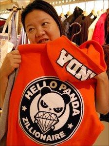 Hong Huang, in her Beijing shop
