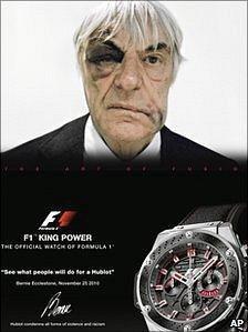 Bernie Ecclestone advertisement