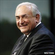 Dominique Strauss-Kahn, Managing Director, International Monetary Fund (IMF) smiles during a Thomson Reuters Newsmaker event in Washington, 16 December 2010