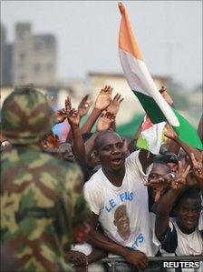 President Gbagbo's supporters rally on 29 December