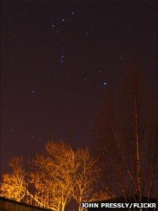Orion, taken from garden of Coats Observatory in Paisley