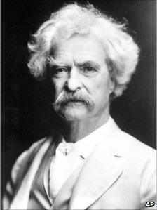 File picture of American author Mark Twain