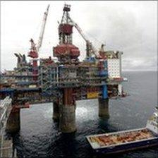 North sea gas rig