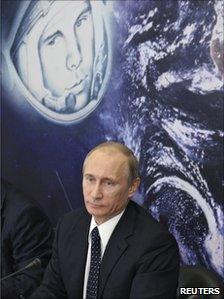 Vladimir Putin chairs a committee, planning the celebrations of Yuri Gagarin's flight