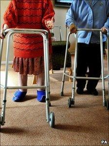 Elderly people in a nursing home