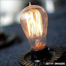 A light bulb