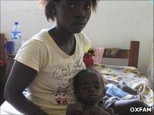 Guei Leopoldine and her daughter Aya Erise Louise Kouakou