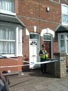 Scene of the incident in Handsworth
