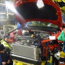 Staff working on the MG6 pre-production