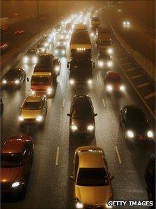 Cars on the M25