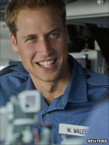 Prince William, photographed during his time with the Royal Navy in 2008
