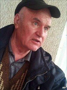 Ratko Mladic soon after his arrest