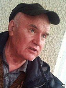 Ratko Mladic pictured after his arrest